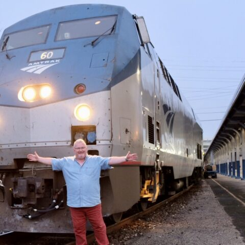 Matthew Woodward on the rails