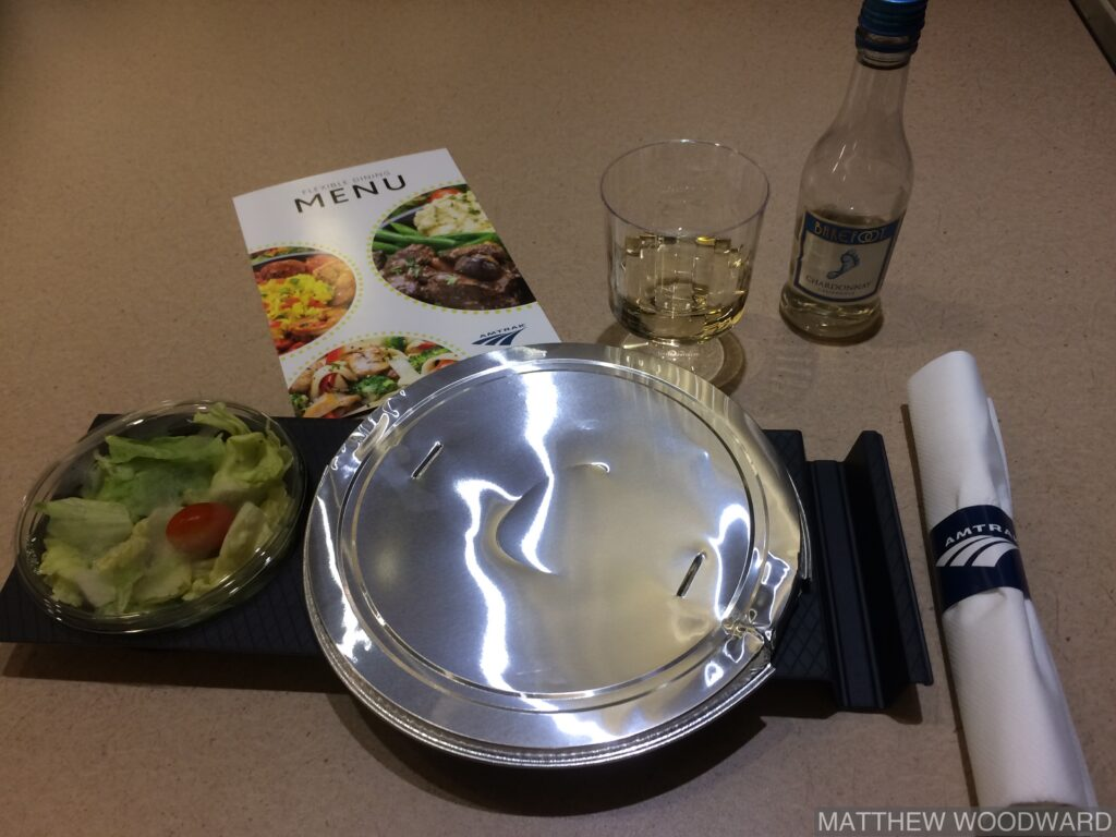 Amtrak meal