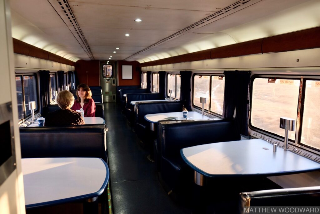 Dining Car, Sleeper Lounge, Amtrak